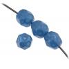 Fire polished 6mm Blue On Crystal Strung